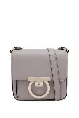 5b3e3f72ce SALVATORE FERRAGAMO LOCK Bag 17cm (Grey  Calfskin Leather ...