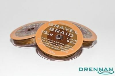 Drennan Gravel Braid - Extra Strong Supple Fast Sink Camo Braid