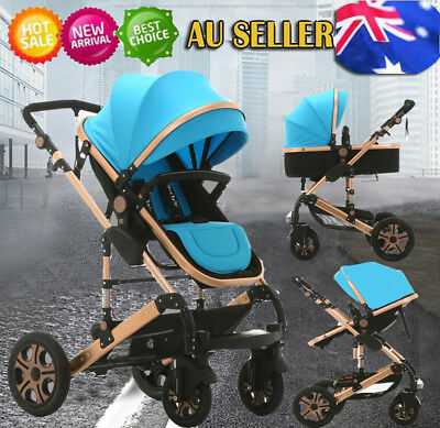 Baby Toddler Stroller Pram Jogger With Bassinet Travel Buggy Foldable Pushchair