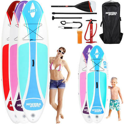 Stand Up Paddle SUP Board Surf Brett aufblasbar 230x10 325x15 Kinder inkl Paddle