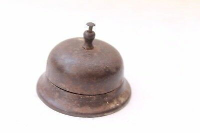 Antique Old Handcrafted Iron Office Desk / Table Multi Purpose Bell NH3944