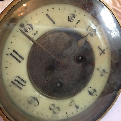 AD Mougin 19th Century French Clock Movement for wall mantle vienna ceramic face