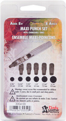 Tandy Leather Factory 3004 Maxi Punch Set-Sizes 6 To 10 & 12