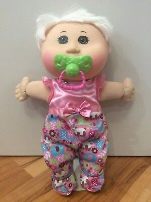 Cabbage Patch Kid, 33cm, blonde haired, brown eyes. Original Clothes, Pacifier