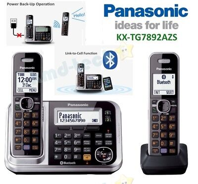 Panasonic Kx-Tg7892Azs Twin Cordless Phone System Link-To-Cell Usb Port Rp$139 C