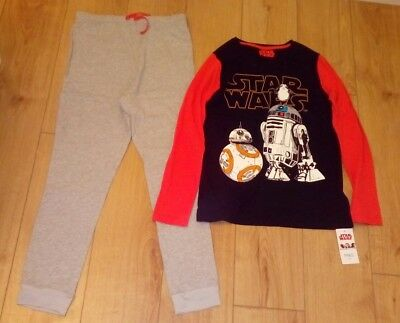New Boys Marks and Spencer Disney Star Wars Long Pyjamas Age 13/14 Years