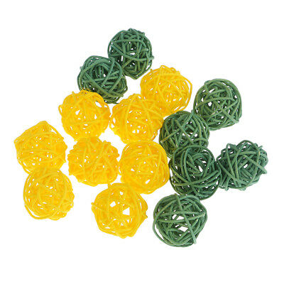 15pcs Dyed Natural Real Vine Rattan Ball for Jewelry Making DIY Earrings 3cm