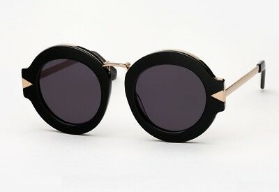 a5a9c1874cce Authentic Karen Walker Sunglasses Maze Handmade Black Frame Black Mirror  Lens