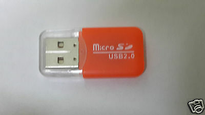 USB 2.0 Micro SDHC, TF, Memory Card Reader -* Orange *-
