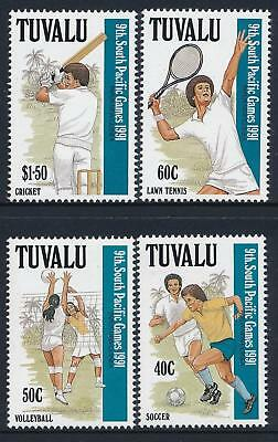 Tuvalu 1991 MNH MUH Set - 9th Anniversary South Pacific Games, Papua New Guinea