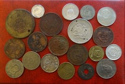 Lot of 20 Mixed Old China Silver/Copper Coins - Nice collection (No Duplicate)