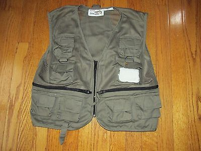Blackhawk Kids Size S Youth Olive Green Clearwater Fishing Utility Vest