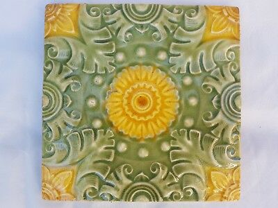 Pilkington Majolica Symmetric Sunflower Aesthetic Design
