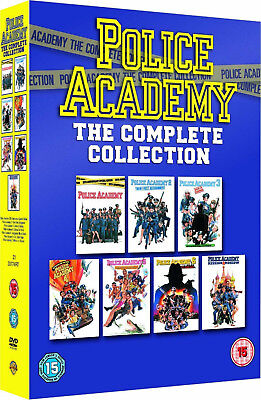POLICE ACADEMY COMPLETE 1 2 3 4 5 6 7 DVD Box Set Movie Film Collection New UK