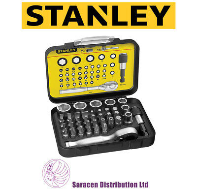 Stanley Fatmax Compact Bit & Socket Set 39Pc & Ratchet, 1/4 Drive - 1-13-906