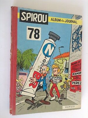Album Reliure Journal Spirou N° 78 BON ETAT