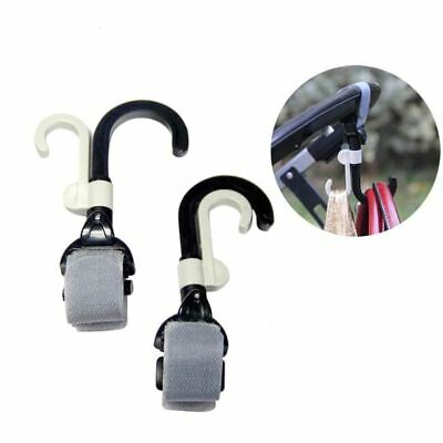 2pcs/lot Baby Stroller Hook Holder Pram Double Rotate Hook Pushchair Hanger