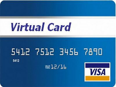 Virtual Visa Credit cards 2$ inside of the card