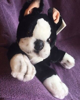 Vintage Plush Boston Terrier Animal Alley With Tags