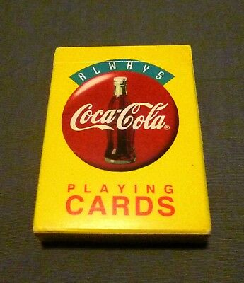 Sealed, Unopened Coca-Cola Playing Cards from 1994