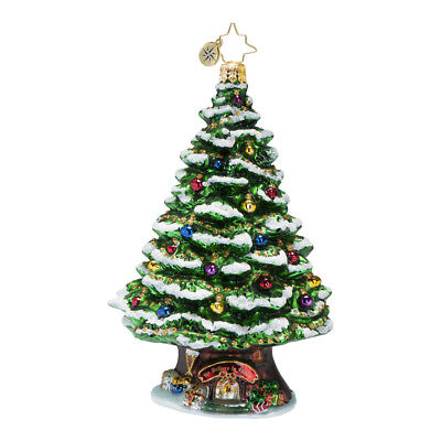 CHRISTOPHER RADKO - HOME SPRUCE HOME Glass Christmas TREE Ornament 1016652