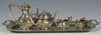 Ph Vogel & Co English Sterling Silver Miniature 5 Pce Tea Set Dollhouse Tea Set