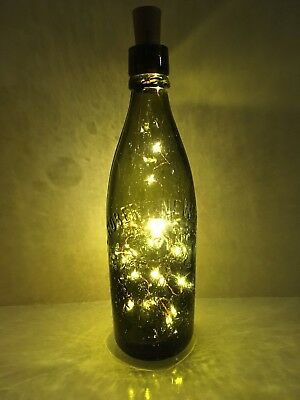 Light up vintage Beer Bottles. Father's Day present. Various sizes and shapes.