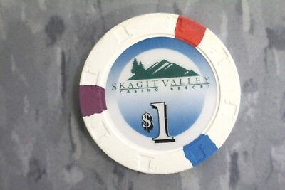 Paulson Top Hats And Cane Poker Chips $1 Skagit Valley Casino. Resort.