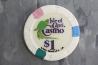Paulson Top Hats And Cane Poker Chips ,$1 Isle Of Capri Casino,Lake Charles , La
