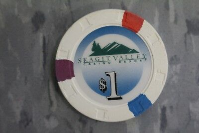 Paulson Top Hats And Cane Poker Chips , $1 Skagit Valley Casino . Resort