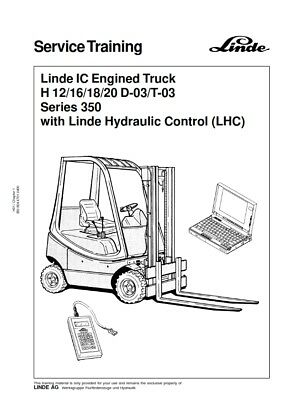 Linde H 12/16/18/20 D-03-T-03 Series 350 Service Training Manual Pdf Email
