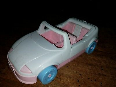 1992 Playskool Dollhouse Convertible Car White And Pink 1593