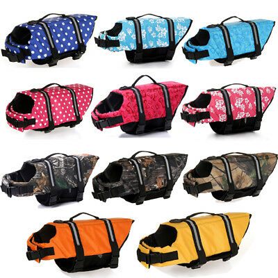 Dog Life Jacket with Reflective Stripes Adjustable Belt for All Size Dogs Cats
