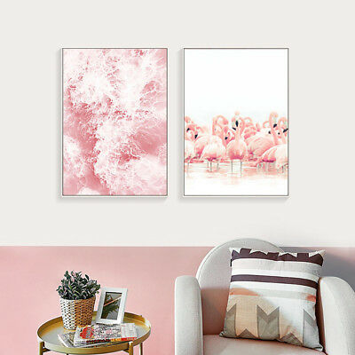Flamingo Sea Canvas Art Poster Painting Home Living Room Wall Decor Hot Sale