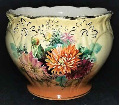 Jardinière, Planter, England, French pattern ,1301J, porcelain, chrysanthemum,9""