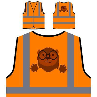 Hipster otter Yellow/Orange Safety Vest w142v