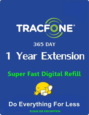 TracFone  1 Year Service Extension  This Adds 365 Days Non-Smartphones Only