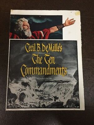 The Ten Commandments by Cecil B. DeMille's Original Movie Advertisement SEE PICS