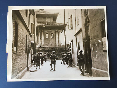 China Press Photo - Japanese Soldiers searching Chinese Snipers in Shanghai 1937