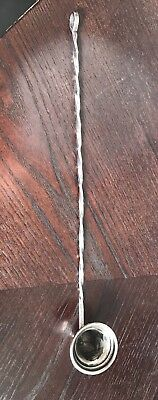"""Antique Sterling Silver Candle Snuffer Twist Twisted Handle """"10"""""""