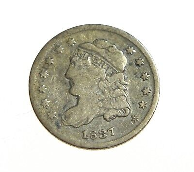 1837 Capped Bust Half Dime 5 Cents US Coin Strong Detail...WOW!!!