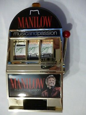 BARRY MANILOW CASINO SLOT BANK FROM VEGAS NEW RARE MUSIC and PASSION SHOW 2006