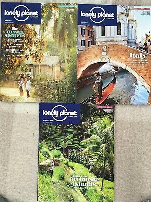 2017 Lonely Planet Traveller Magazines May July And August Issues 101, 103, 104
