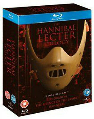 The Hannibal Lecter Trilogy Collection (Blu-ray, 3-Disc Set, Region-Free) *NEW*