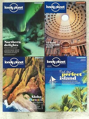 2016 Lonely Planet Traveller Magazines January-april Issues 85-88