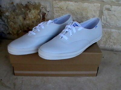 fa9188b3d83 Women s Keds Champion White Leather Sneakers Oxfords Size 11S WH45750 NIB