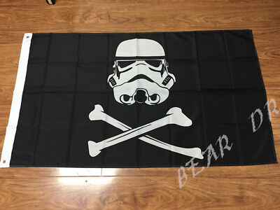 STAR WARS STORMTROOPER PIRATE FLAG 3x5FT 90x150CM TWO GROMMETS