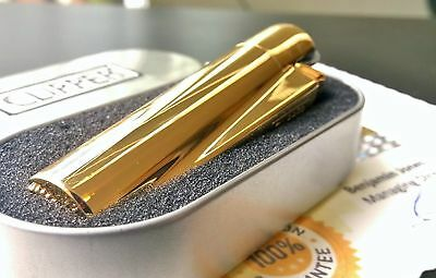 Authentic Clipper Gold Refillable Metal Lighter, Limited Edition, 2 YR Warranty!