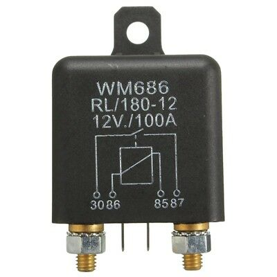 12V 100Amp 4-Pin Heavy Duty ON/OFF Switch Split Charge Relay For Auto Boat Q6M2