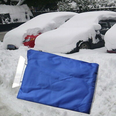 Car Auto Snow Ice Shovel ABS Scraper With Lined Warm Glove Removal Clean Tool
